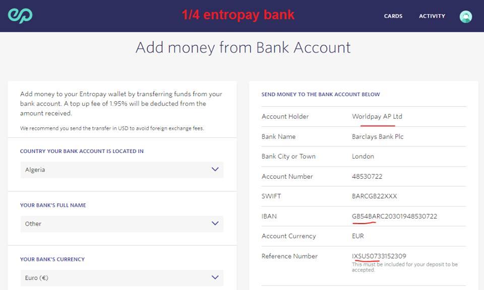 شرح طريقة تعبئة بطاقة Entropay لتفعيل بايبال و عمل حملات إعلانية فيس بوك Visa Card