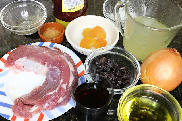 Ingredientes para solomillo en salsa mozárabe