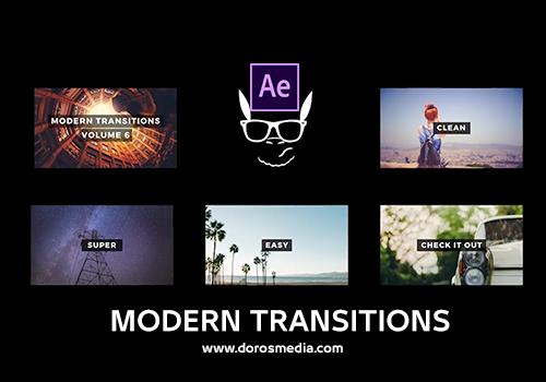 قوالب افتر افكت انتقالات افتر افكت انتقالات حديثة مميزة لبرنامج الادوبي افتر فكت Modern Transitions 5 Pack After Effects