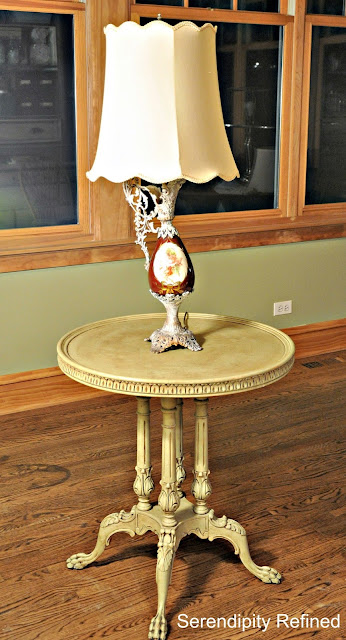 Transformation: Chalk Paint Table and Lamp Makeover by Serendipity Refined