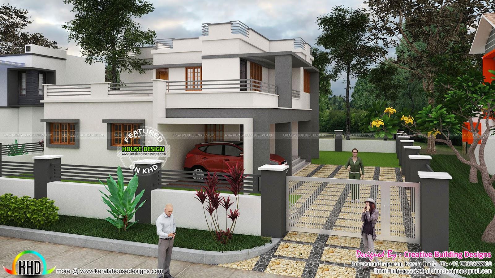 Box type residence plan house facilities