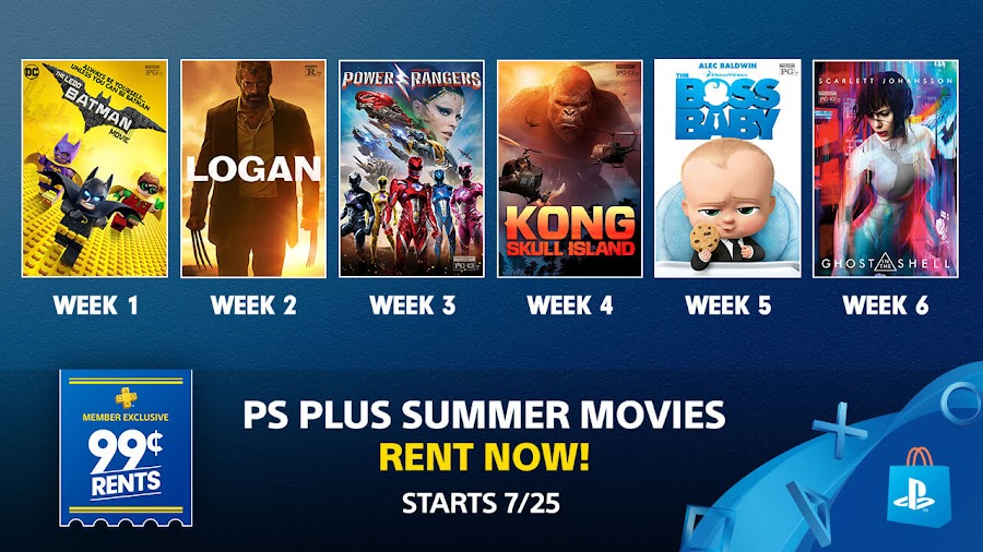 playstation plus summer movies 2017