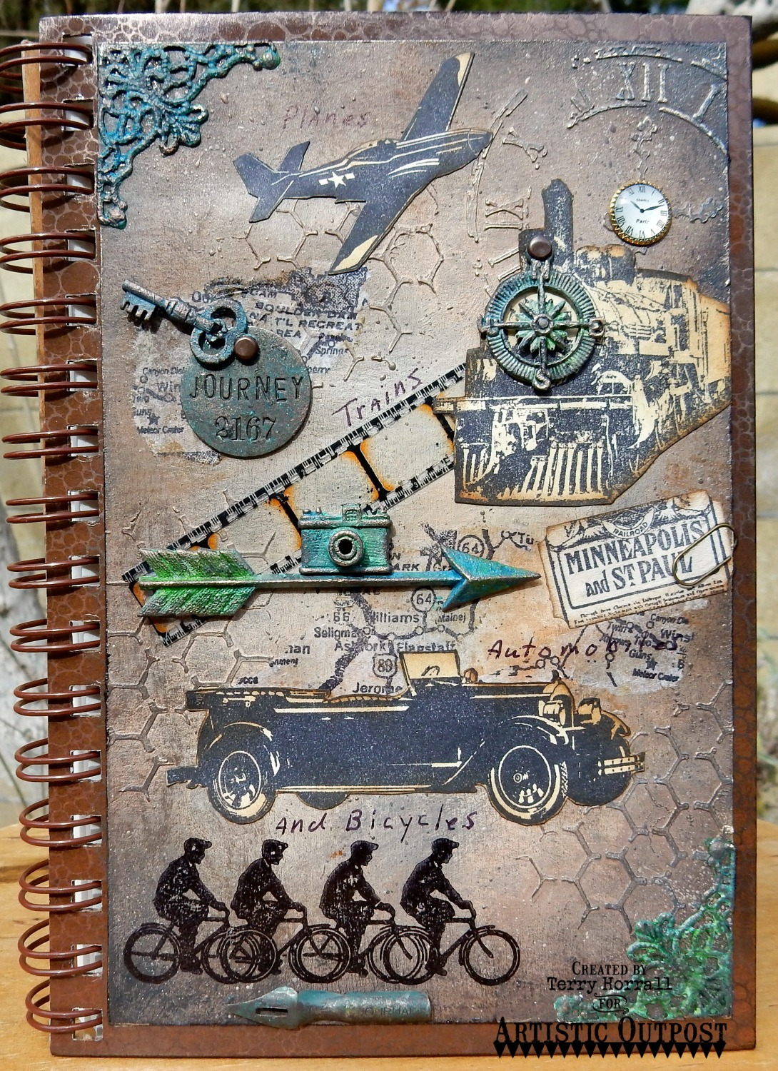 Stamps - Artistic Outpost SteamPunk, Hat's Off, Route 66, Industrial Backgrounds, Gatsby
