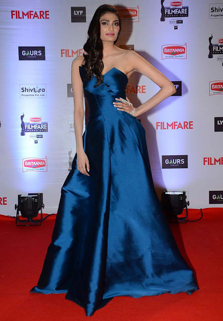 Athiya Shetty in shiny gown