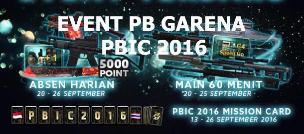 Event PB Garena Indonesia Terbaru PBIC 2016