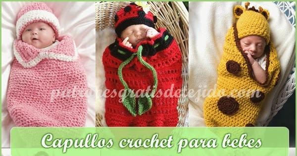 Capullo o cocoon y gorro para bebés | Crochet y Dos agujas ...