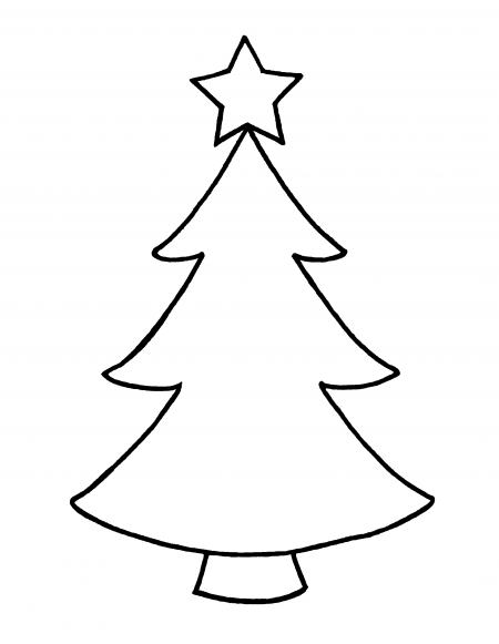 Top christmas clip art black and white