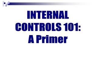 دورة عن الرقابة الداخلية Internal Control