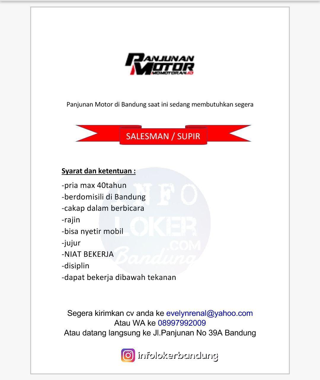 Lowongan Kerja Junjunan Motor Bandung Maret 2018