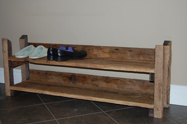 barnwood only shoe rack