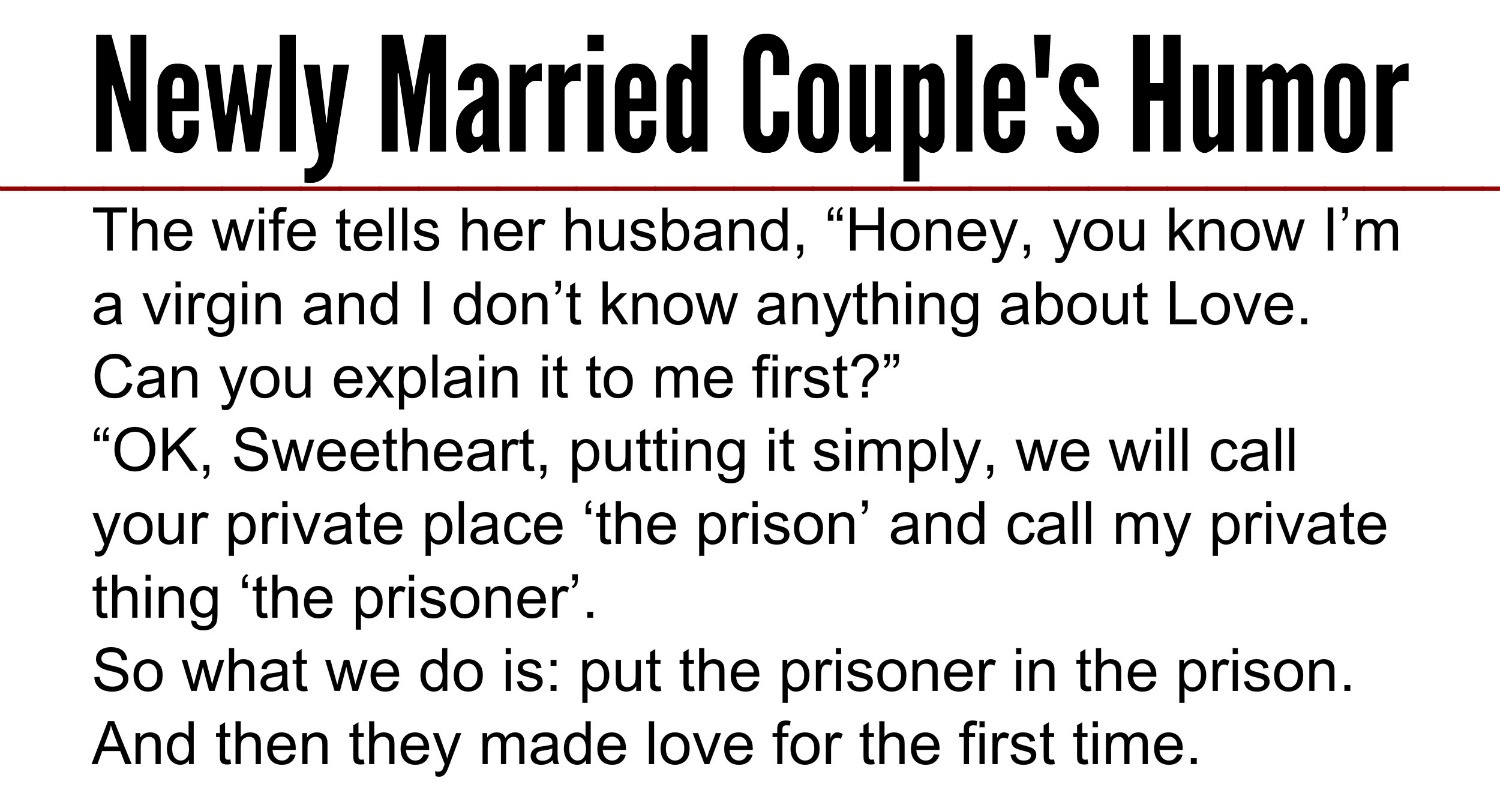 Newly Married S Humor Funny Story