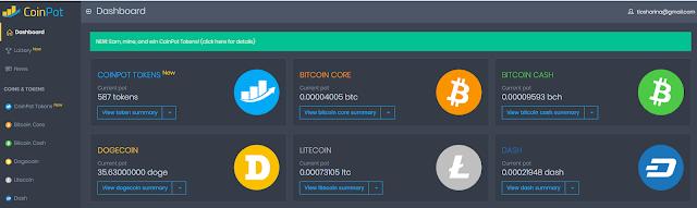 CoinPot - криптовалютный микрокошелек