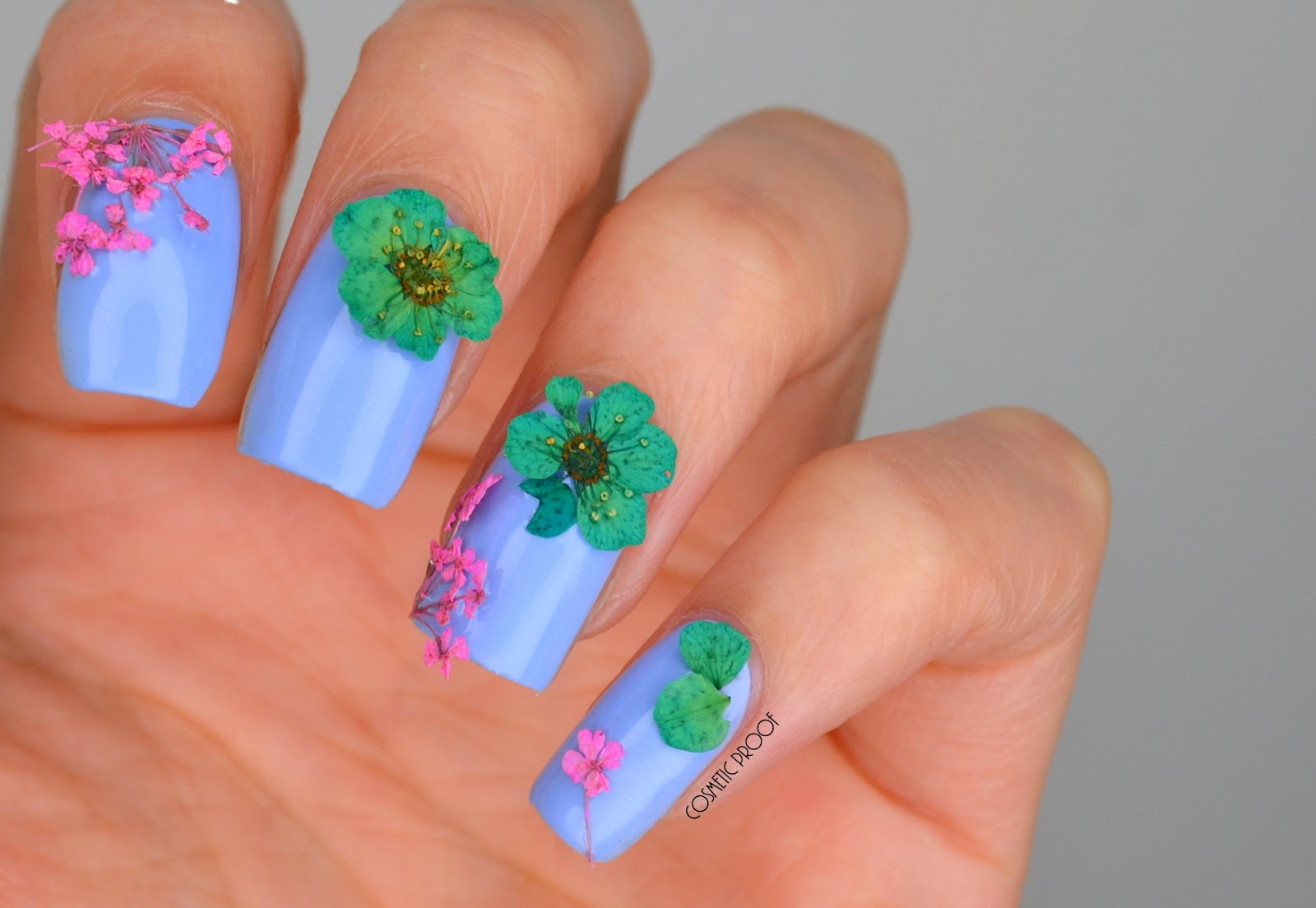 NAILS | Essie Bikini So Teeny Dried Flower Spring Nail Art ...