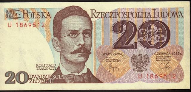 Polonia 20 Zlotych 1982 P# 149