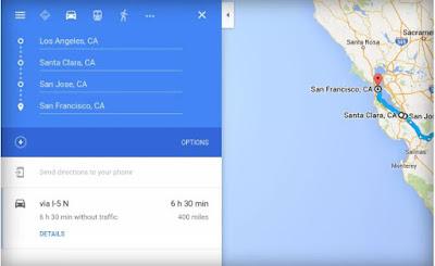 خرائط جوجل تدعم الوقفات المتعددة لنظام iOS
