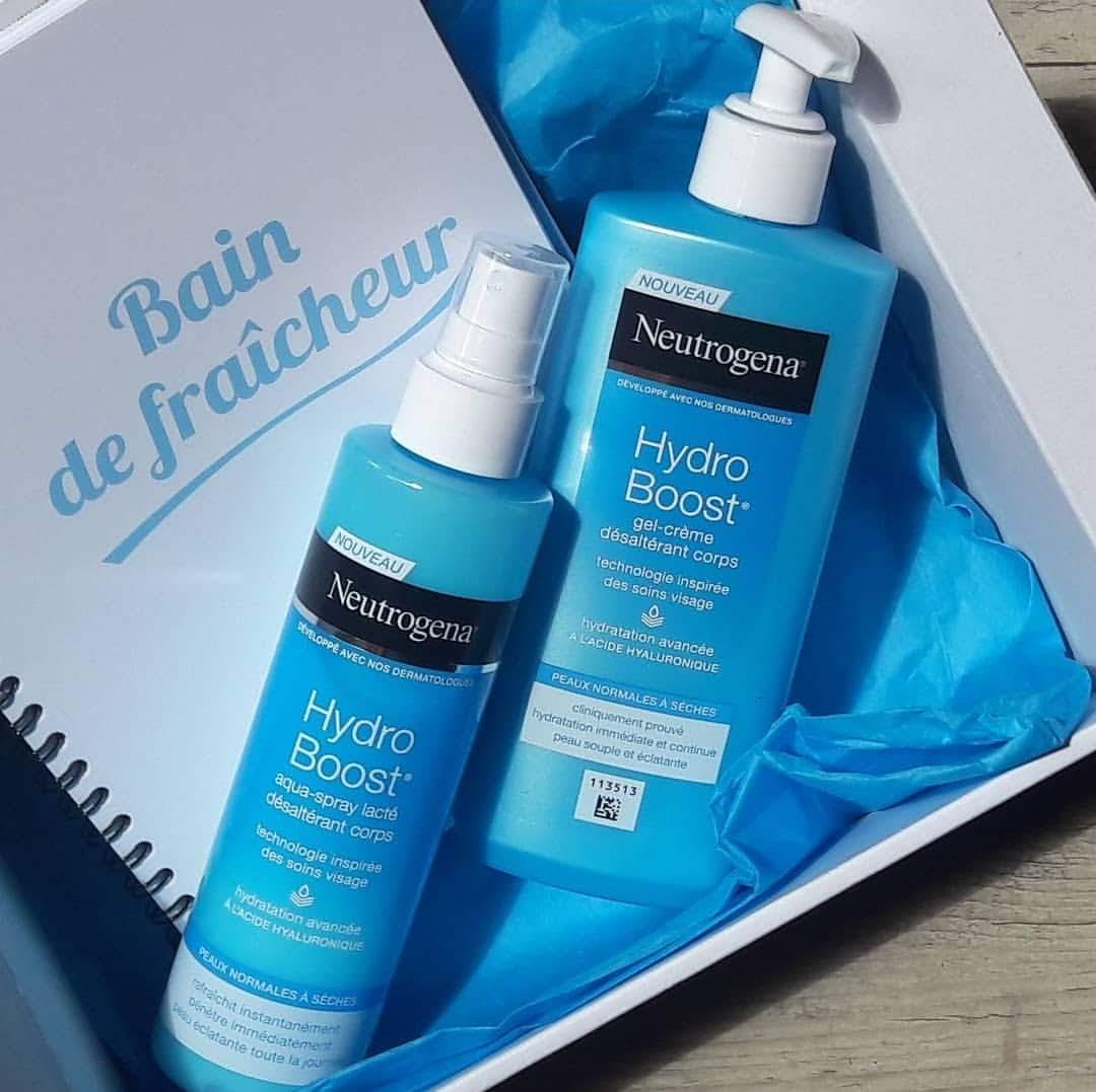 Neutrogena Hydro Boost  Gel crème & Aqua Spray Lacté désaltérant