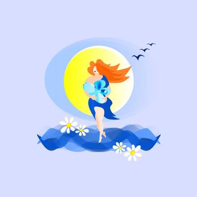 """картинка иллюстрация арт """"Рождение новой жизни, мать и дитя, весна шагает по планете"""" p_i_r_a_n_y_a"""