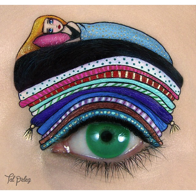 09-The-Princess-and-The-Pea-Tal-Peleg-Body-Painting-and-Eye-Make-Up-Art-www-designstack-co