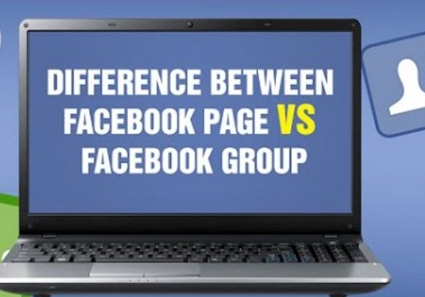 difference between facebook page and group