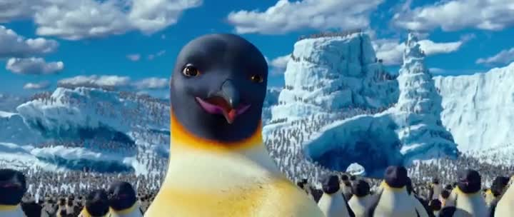 Screen Shot Of Happy Feet Two (2011) Dual Audio Movie 300MB small Size PC Movie