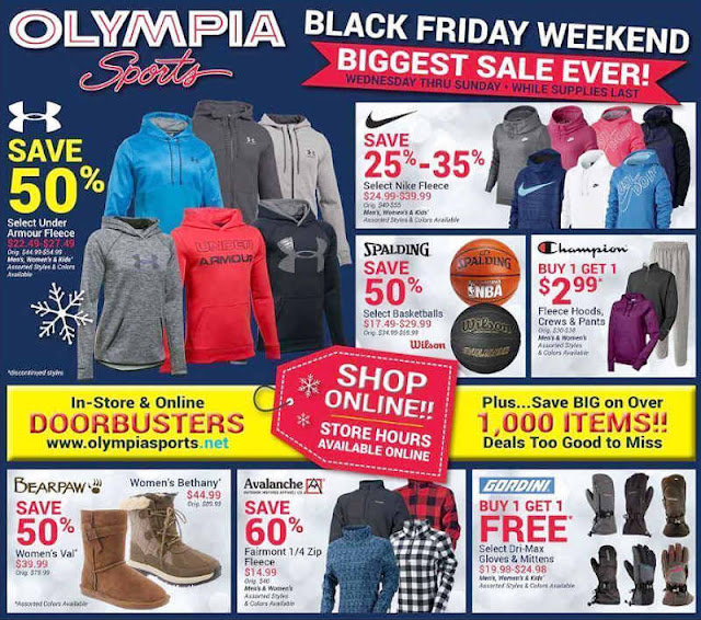 Olympia Sports Black Friday 2017 Ad