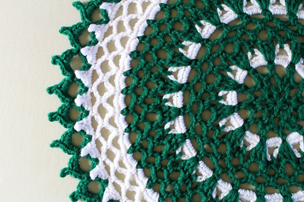 free pattern, crochet, doily, mandala, Irish, St.Patty's Day, St.Patrick's Day, lace, picot