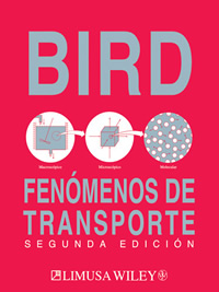 LIBROS LIMUSA: FENÓMENOS DE TRANSPORTE BIRD Libro. Autor