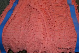 Ruffle Skirt in progress - Taped