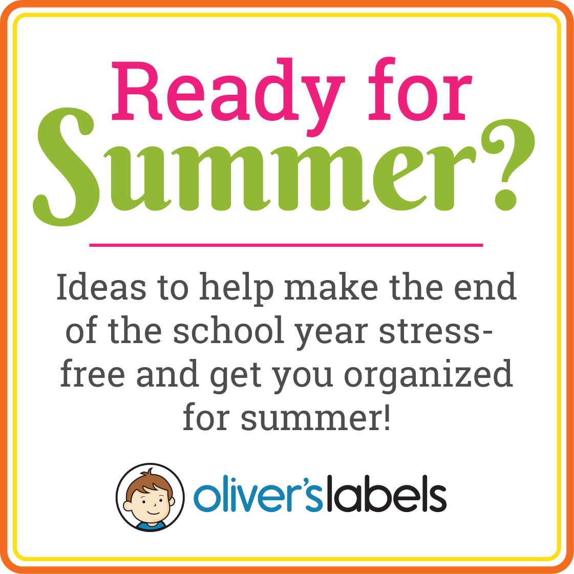 Oliver's Labels: Ready For Summer? {+ Promo Code!}