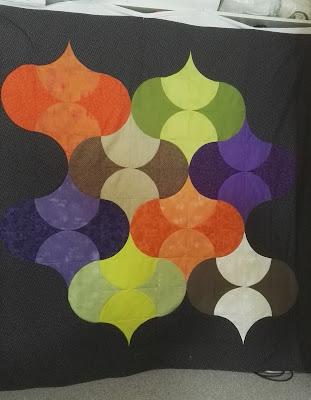 Quilt, modern, patchwork, lanterns