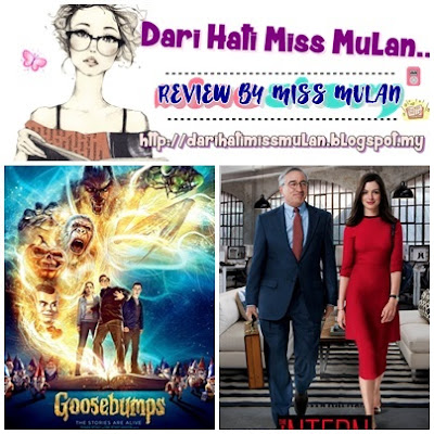 Review Goosebumps and The Intern (Engslih Film) By Miss MuLan