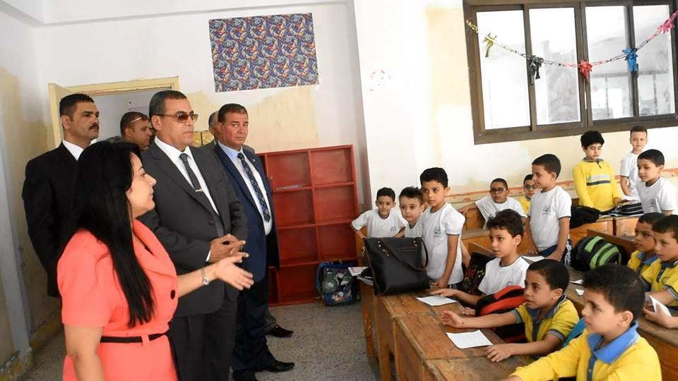 محافظ الفيوم ووكيل تعليم الفيوم يتفقدا عدداً من المدارس بمدينة الفيوم