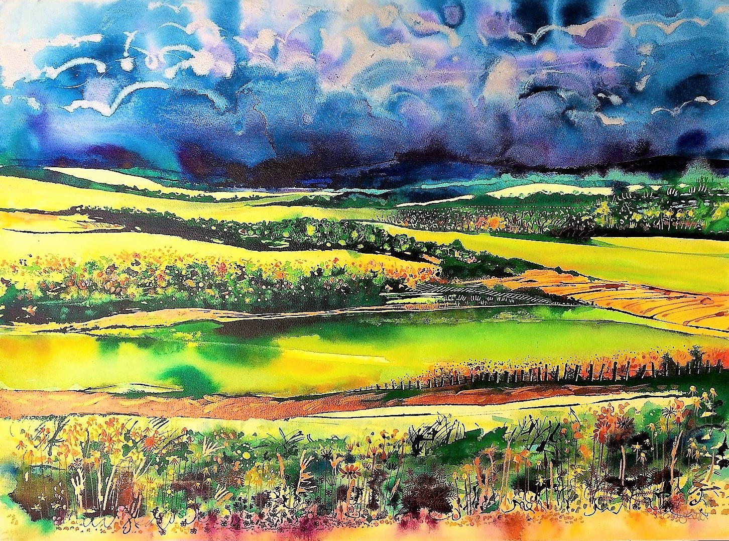 Green Tree Gallery: Sally Scott, bringing colour, vitality and a joy ...