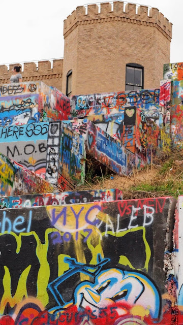 The Graffiti Park at Castle Hill for amazing street art in Austin, Texas