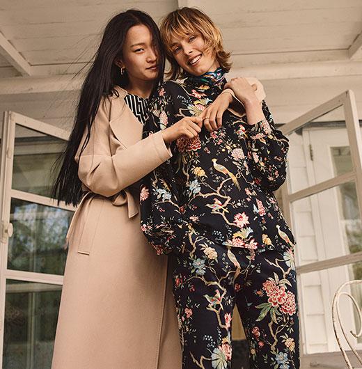 Nueva colección de moda mujer H&M con print de GP & J Baker