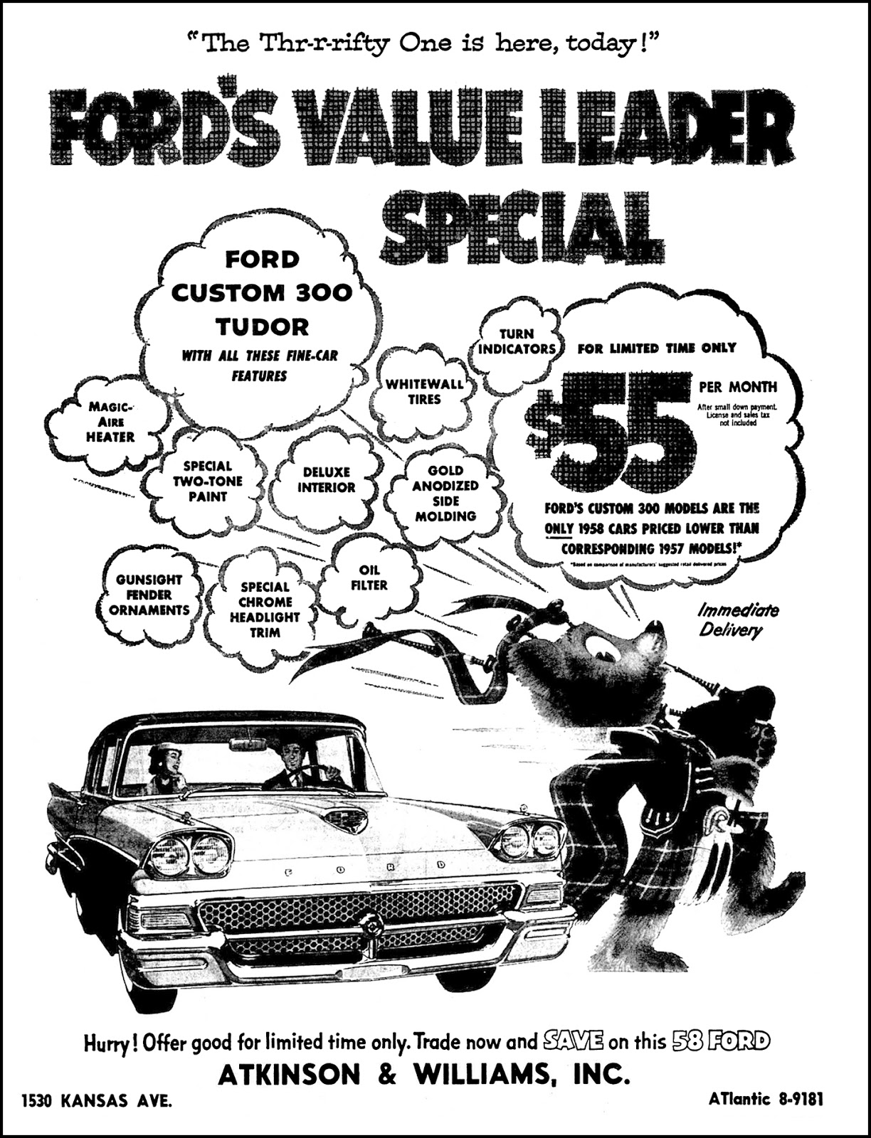 brady s bunch of lorain county nostalgia february 2018 61 Ford Starliner atkinson williams ford ad feb 24 1958
