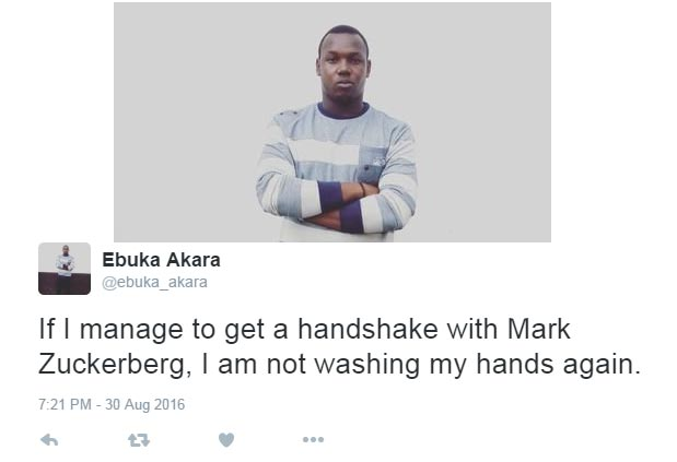 I'll never wash my hands again if I touch Mark Zuckerberg - Twitter user