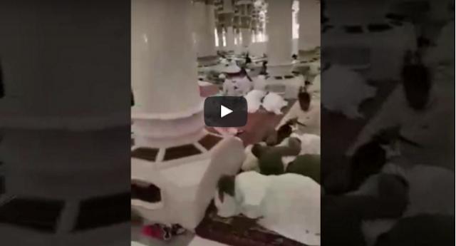 رجل يُصور المسجد النبوي من الداخل .. شاهد ماذا وجد  لن تصدق هذا المشهد