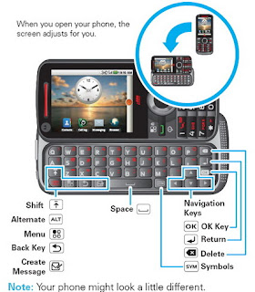 Motorola i886 Android-powered iDEN phone with dual keyboard 1