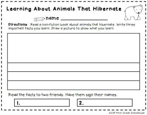 classroom freebies too studying animals that hibernate. Black Bedroom Furniture Sets. Home Design Ideas