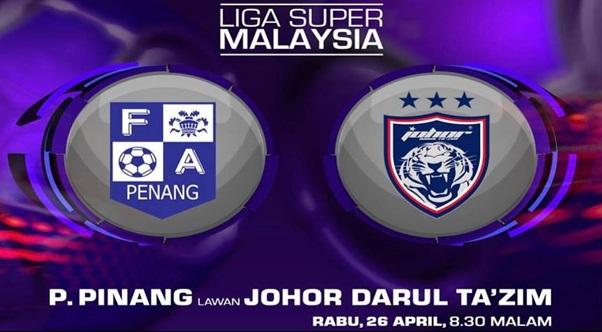 Live Streaming Pulau Pinang vs JDT FC 26 April 2017 Liga Super
