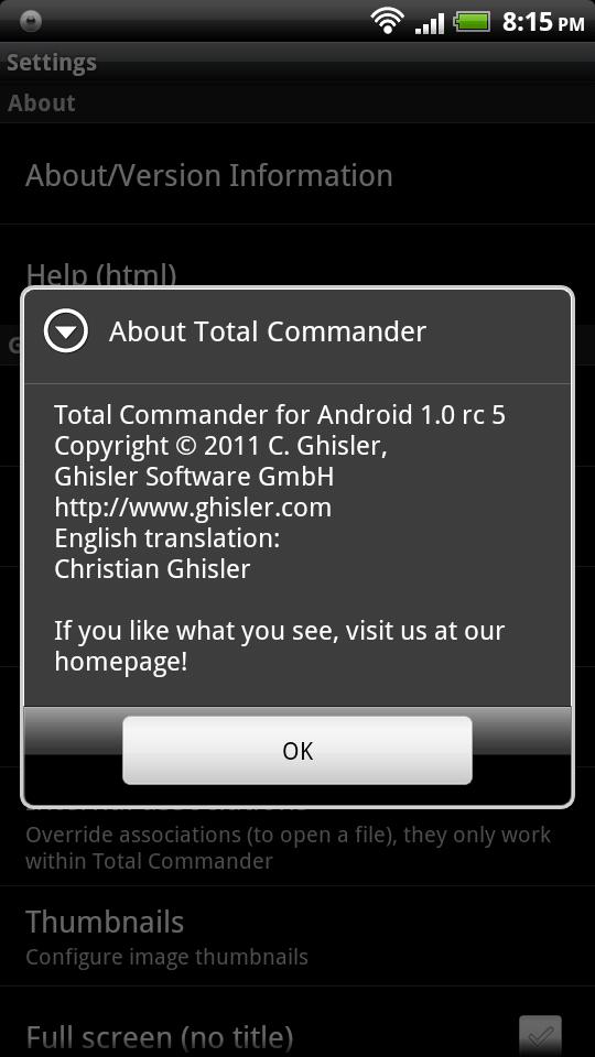 total commander тв apk