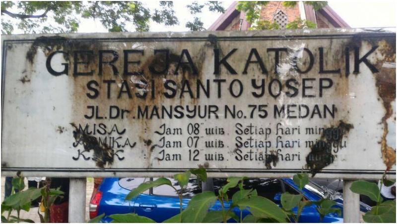 Aksi Bom Bunuh Diri di Gereja Santo Yoseph Medan Digagalkan