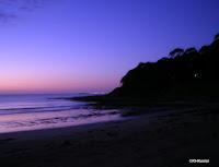Southern Hemisphere sunset