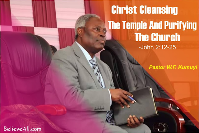 Christ Cleansing The Temple And Purifying The Church -John 2:12-25