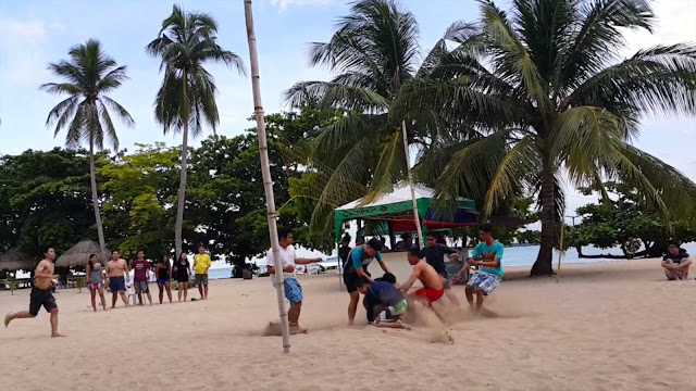 Agawang Buko Game - FSRM Outing in Palawan 2015