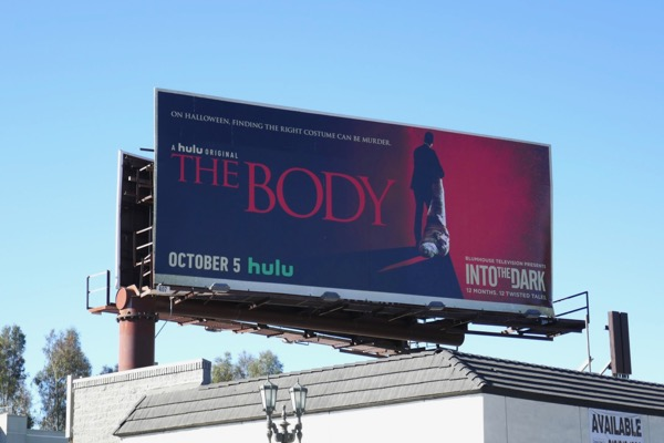 Into the Dark Body launch billboard