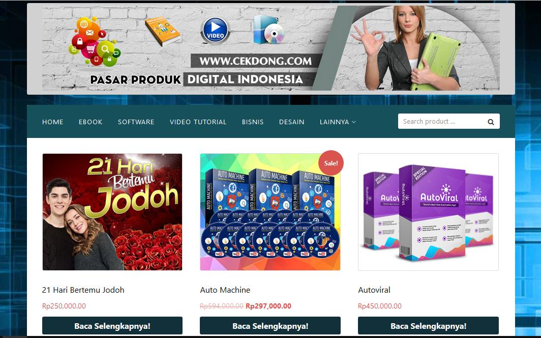 CekDong.Com Pasar produk Digital Indonesia