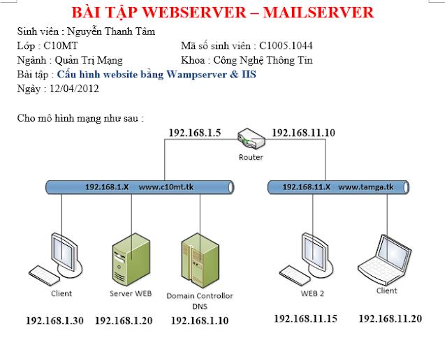 [ Webserver - Mailserver ] Lab Bài 5