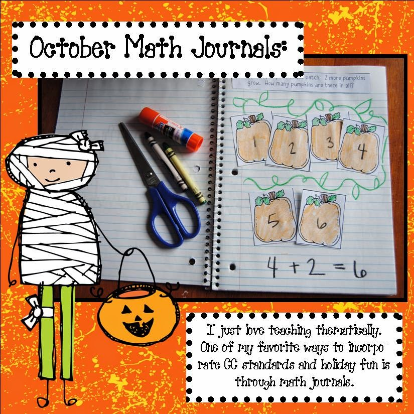 Teaching, Learning,  Loving October Math Journal Prompts